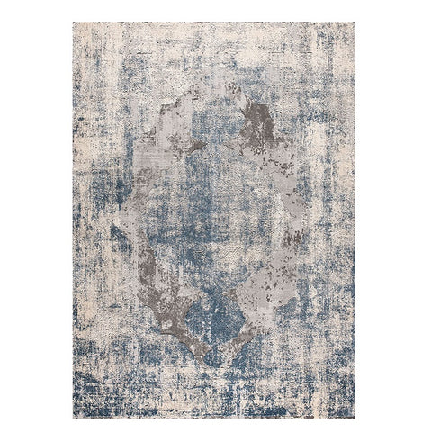 Taunton 2480 Blue Beige Grey Transitional Textured Rug - Rugs Of Beauty - 1