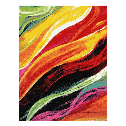 Ensenada 4977 Multi Coloured Abstract Patterned Modern Rug - Rugs Of Beauty - 1
