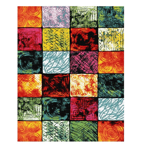 Ensenada 4986 Multi Coloured Abstract Patterned Modern Rug - Rugs Of Beauty - 1