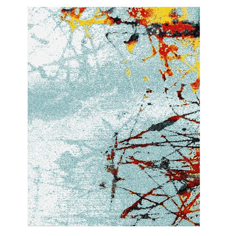 Ensenada 4987 Multi Coloured Abstract Patterned Modern Rug - Rugs Of Beauty - 1