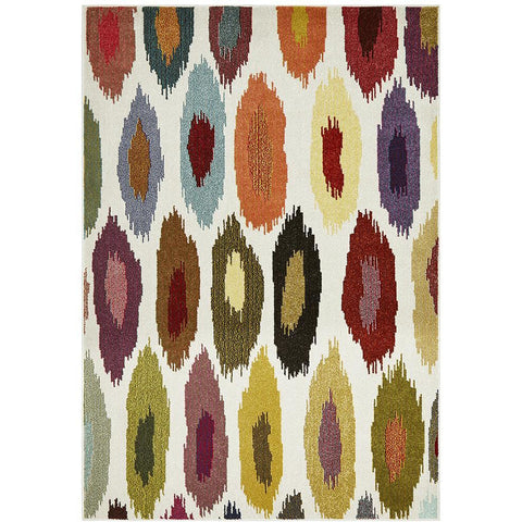 Mubi 3724 Multi Colour Abstract Pattern Modern Rug - Rugs Of Beauty - 1