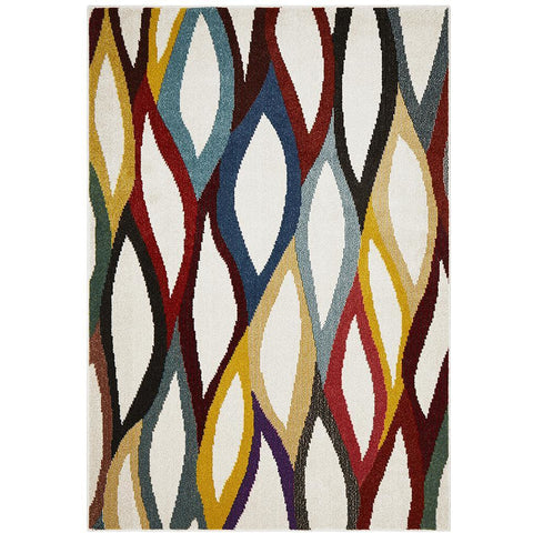 Mubi 3726 Multi Coloured Abstract Pattern Modern Rug - Rugs Of Beauty - 1