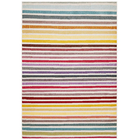 Mubi 3721 Colourful Striped Modern Rug - Rugs Of Beauty - 1