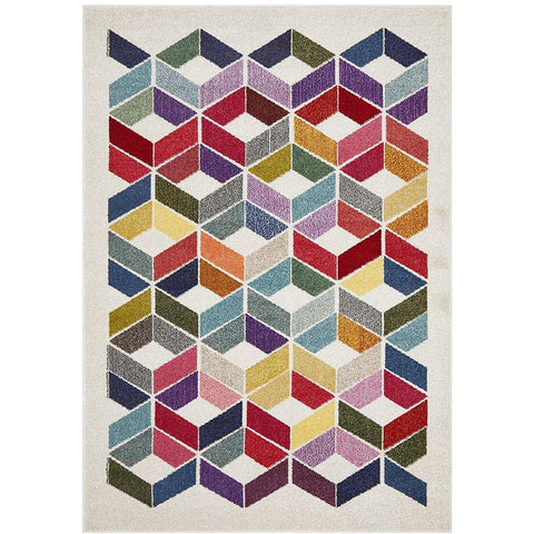 Mubi 3722 Multi Colour Patterned Modern Rug - Rugs Of Beauty - 1