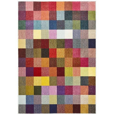 Mubi 3723 Pastel Multi Colour Pixel Patterned Modern Rug - Rugs Of Beauty - 1