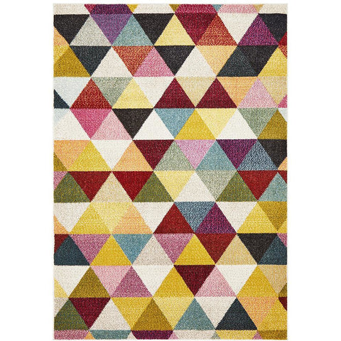 Mubi 3729 Multi Colour Bunting Patterned Modern Rug - Rugs Of Beauty - 1