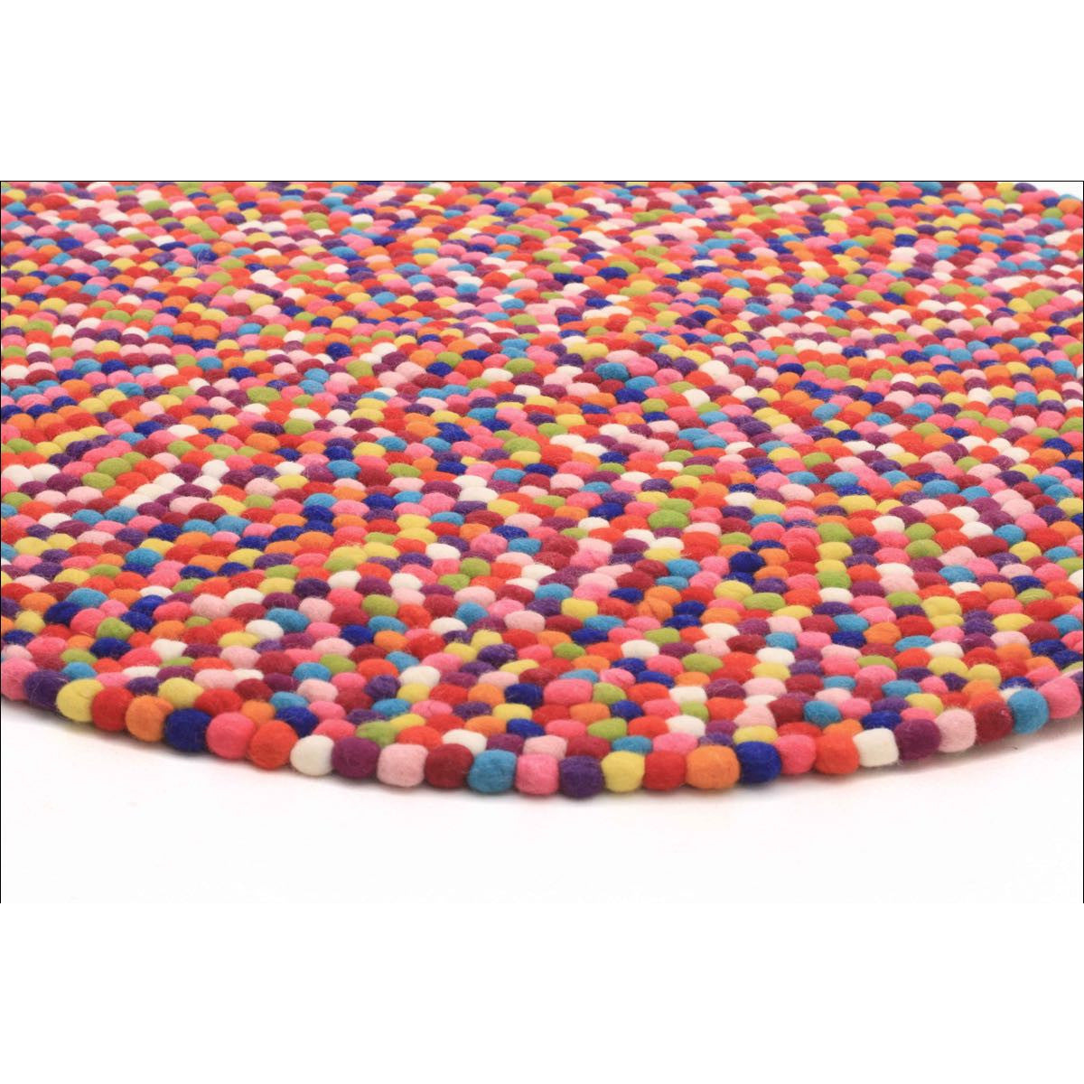 Round Colourful Rugs