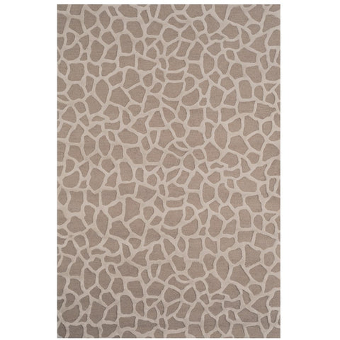 Olam Geometric Taupe & Beige Patterned Wool Rug - Rugs Of Beauty