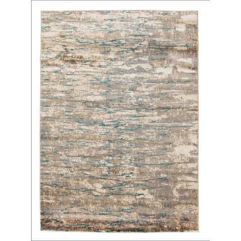 Alyssa Stunning Modern Flatweave Rug Natural Turquoise - Rugs Of Beauty - 1