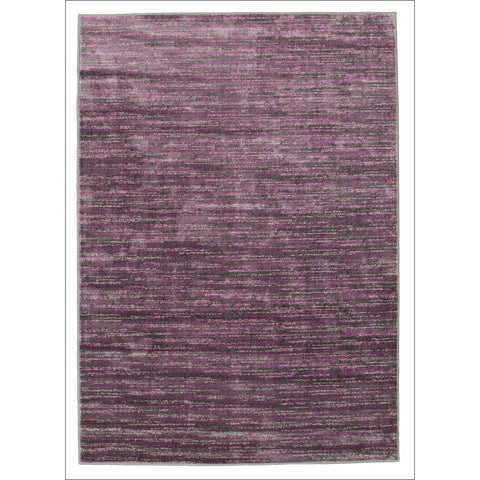 Pandora Contemporary Stripe Rug Aubergine Grey - Rugs Of Beauty - 1