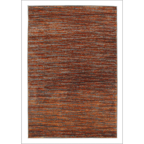 Pandora Contemporary Stripe Rug Rust Grey - Rugs Of Beauty - 1