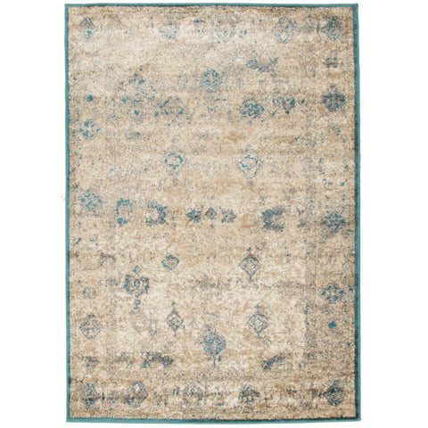 Aisha Vintage Ziegler Flatweave Rug Blue - Rugs Of Beauty - 1