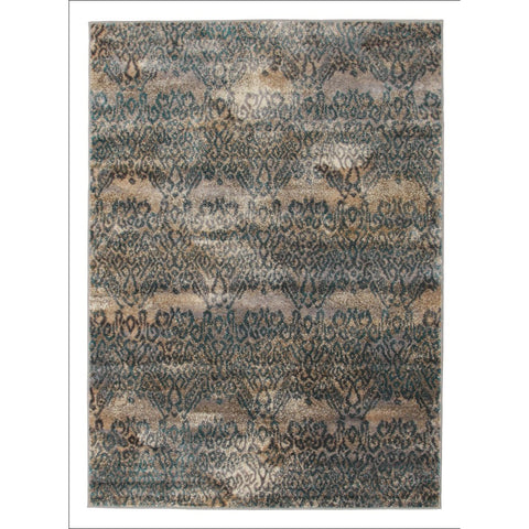 Hanna Lace Rug Blue Natural - Rugs Of Beauty - 1