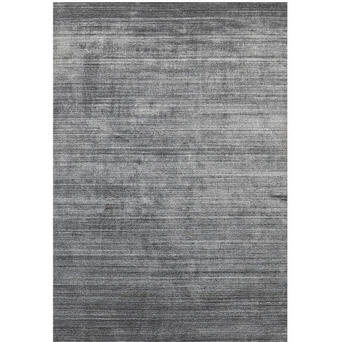 Manhattan Stylish Hand Made Modern Wool Viscose Rug Dark Grey