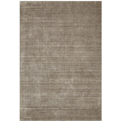 Benevento Stylish Hand Made Modern Wool Viscose Rug Dark Natural - Rugs Of Beauty - 1