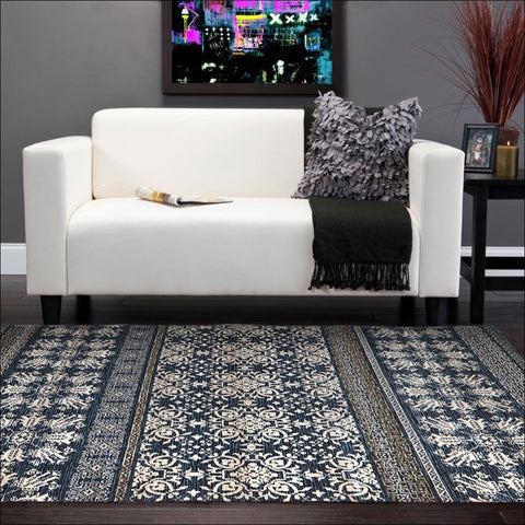 Urban Tribe Designer Rug Blue - Rugs Of Beauty