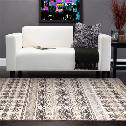 Urban Tribe Designer Rug Ivory - Rugs Of Beauty