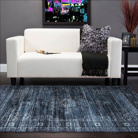 Kings Court Designer Rug Blue - Rugs Of Beauty