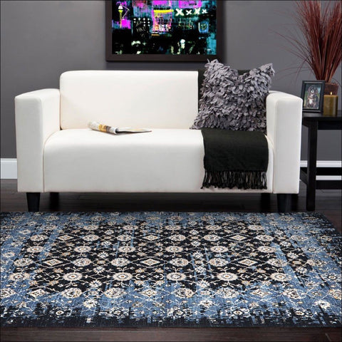 Royal Kashan Designer Rug Blue Navy - Rugs Of Beauty