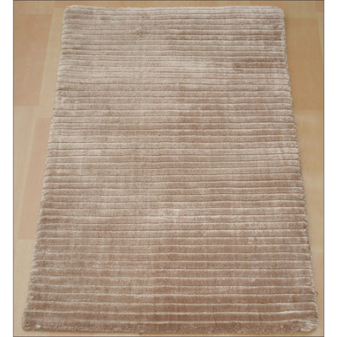 Hand Knotted Viscose Cotton Rug - Royal 863 Cappuccino Beige - Rugs Of Beauty