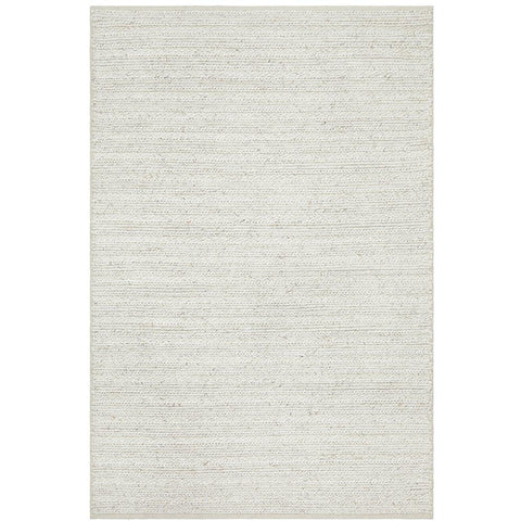 Luja 401 Ivory Modern Designer Wool Viscose Rug - Rugs Of Beauty - 1