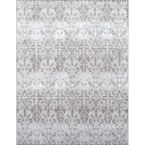 Modern Handmade Wool & Silk Rug - 1071 - Beige - Rugs Of Beauty
