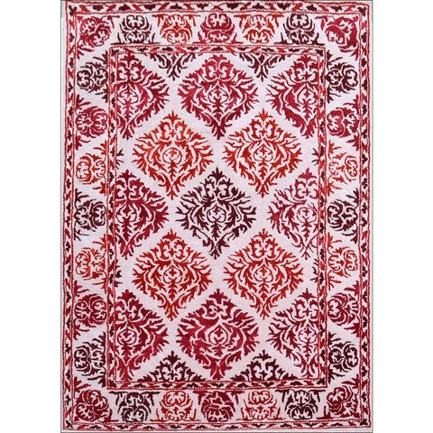 Handmade Red Traditional Patterned Wool Rug - 1072 - Rugs Of Beauty - 1