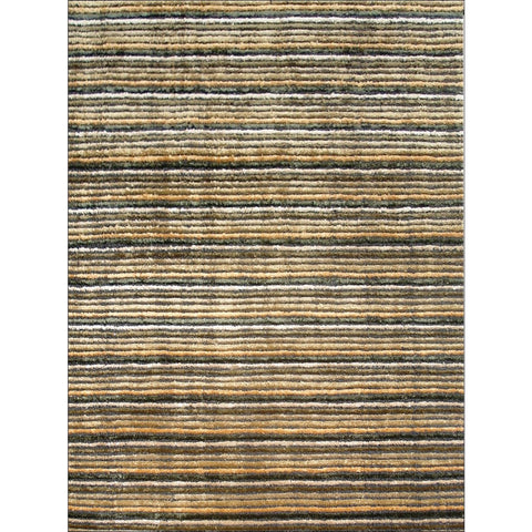 Handtufted Viscose Rug - Alfonso - Grey/Gold - Rugs Of Beauty
