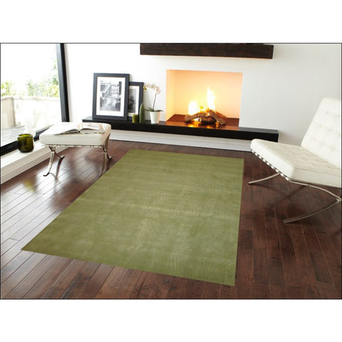 Handmade Green Modern Wool Rug - Elite 1002 - Rugs Of Beauty