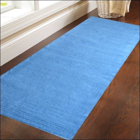 Hand Made Wool Rug - Elite 1041 - Blue - Rugs Of Beauty - 1