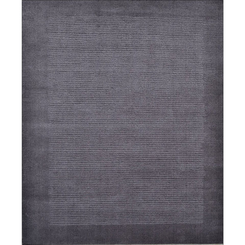 Handmade Charcoal Grey Wool Rug - Elite 1041 - Rugs Of Beauty