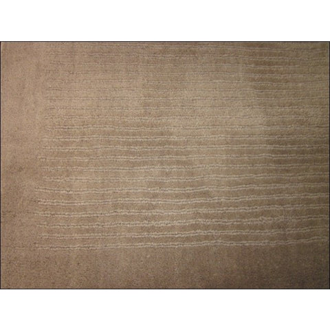 Handmade Modern Taupe Wool Rug - Elite 1041 - Rugs Of Beauty