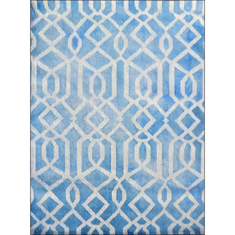 Modern Handtufted Wool Rug -1170-Aqua - Rugs Of Beauty