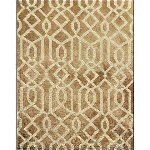Modern Handtufted Wool Rug -1170-Brown - Rugs Of Beauty