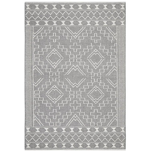 Vasteras 1252 Grey Scandinavian Wool Rug - Rugs Of Beauty - 1