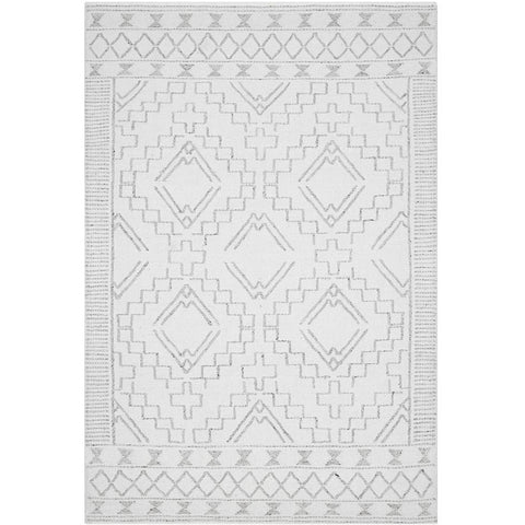 Vasteras 1252 Ivory White Scandinavian Wool Rug - Rugs Of Beauty - 1