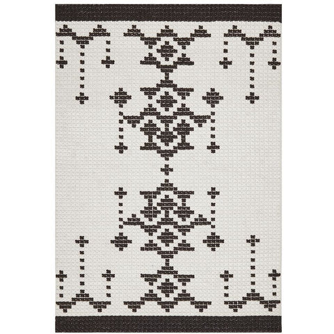 Vasteras 1253 Black Scandinavian Wool Rug - Rugs Of Beauty - 1