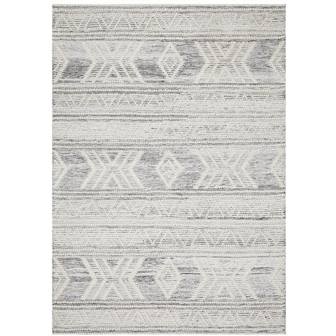Vasteras 1256 Silver Grey Scandinavian Wool Rug - Rugs Of Beauty - 1