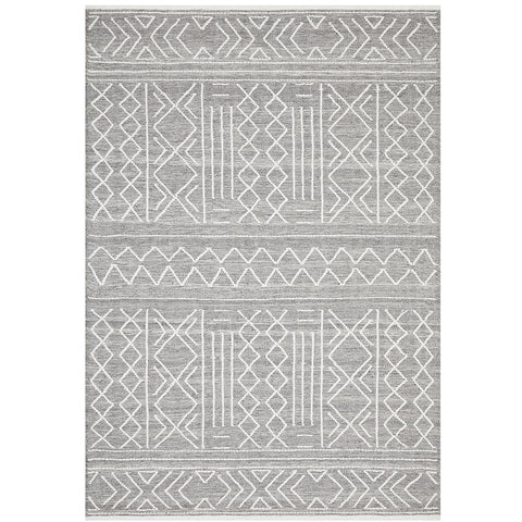 Vasteras 1257 Grey Scandinavian Wool Rug - Rugs Of Beauty - 1