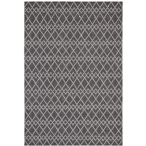 Vasteras 1258 Black Scandinavian Wool Rug - Rugs Of Beauty - 1