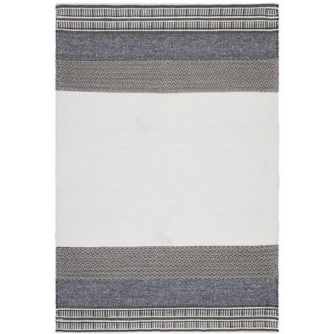 Vasteras 1259 Denim Blue Grey Beige Modern Wool Rug - Rugs Of Beauty - 1