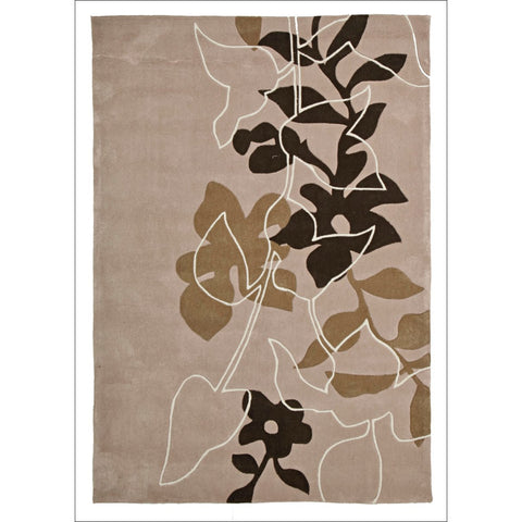 Leaf and Vine Rug Beige Taupe Cream - Rugs Of Beauty