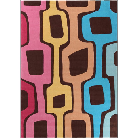 Funk Retro Multi Coloured Rug - Rugs Of Beauty