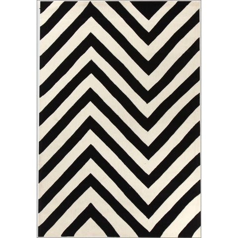Chevron Black And White Rug - Rugs Of Beauty - 1
