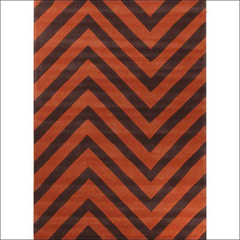 Chevron Jaffa Orange Rug - Rugs Of Beauty - 1