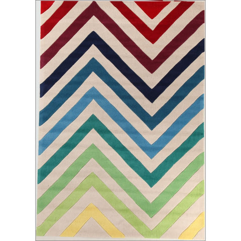 Chevron Multi Coloured Rug - Rugs Of Beauty - 1