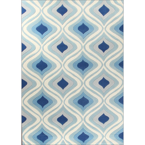 Stunning Oil Lamp Blue Rug - Rugs Of Beauty