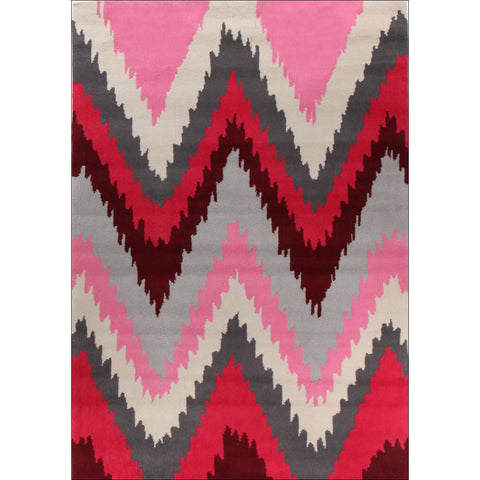 Ikat Chevron Pink Rug - Rugs Of Beauty