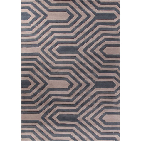 Circuit Board Taupe Rug - Rugs Of Beauty - 1