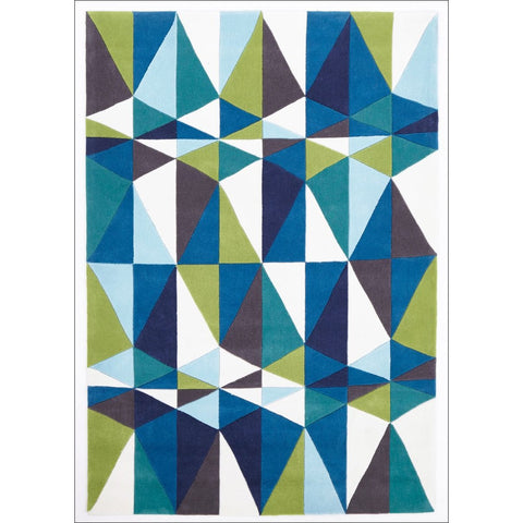 Blue and Green Crystal Designer Rug - Rugs Of Beauty - 1